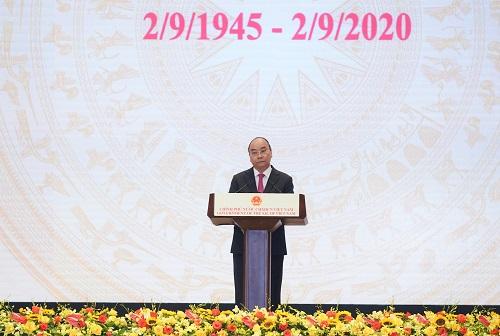 Thủ tướng Nguyễn Xuân Phúc phát biểu tại lễ kỷ niệm.