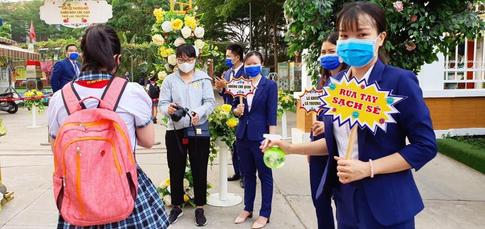 Trường Tiểu học Lê Đức Thọ - Gò Vấp vững tin phòng chống dịch cho học sinh vào năm học mới