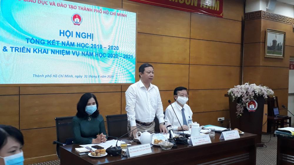 Ông Dương Anh Đức, Phó Chủ tịch UBND TP. HCM phát biểu tại hội nghị