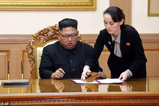 """Kim Yo-jong được coi là nhà lãnh đạo """"số hai"""" của Triều Tiên, người tham gia hoạch định những chính sách quan trọng của Bình Nhưỡng - Ảnh: AFP/KCNA"""