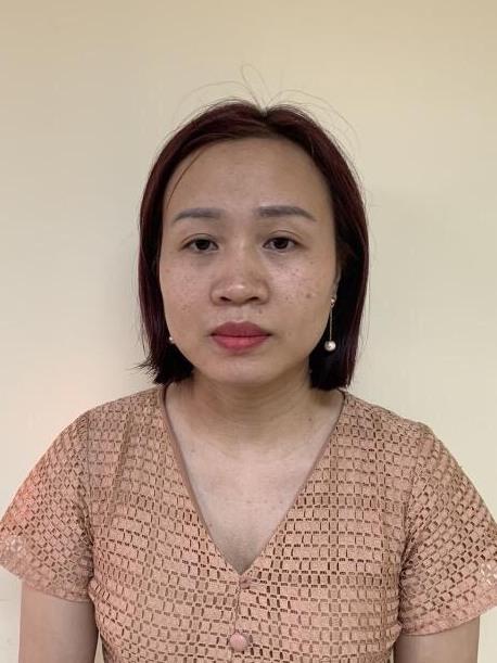 Bị can Hoàng Kim Thư.