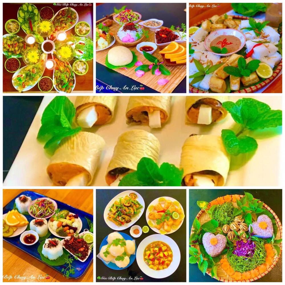 Cả nhà rất hào hứng với những món ăn xanh thuần Việt do chị nấu thay cho những bữa ăn đạm động vật (Ảnh nân vật cung cấp)