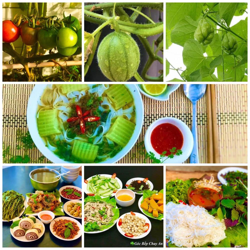 Món ăn được biến tấu từ rau củ quả trong vườn (Ảnh nhân vật cung cấp)