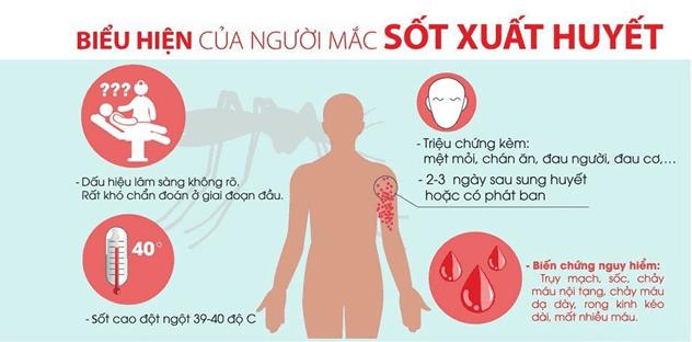 Các dấu hiệu mắc sốt xuất huyết