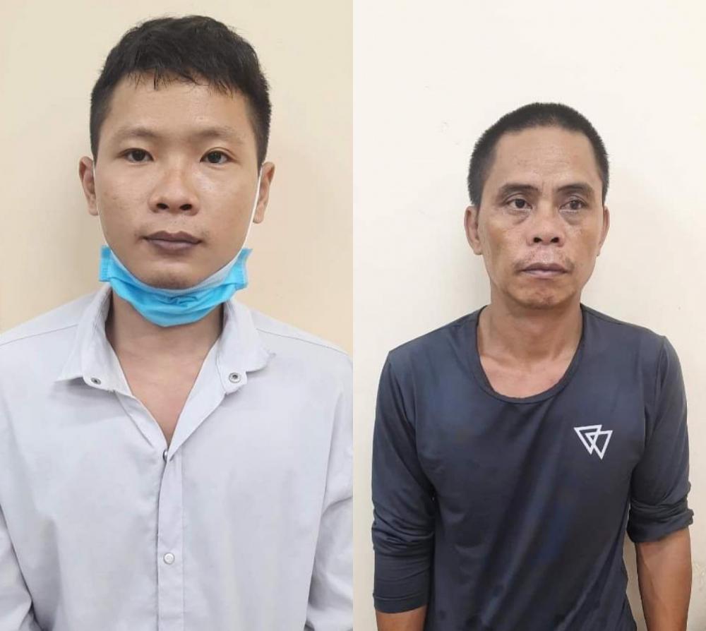 Hai đối tượng bị bắt giữ.