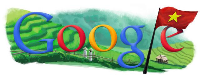 Năm 2010, Google sử dụng doodle kỷ niệm ngày 2/9 với biểu tượng lá cờ đỏ sao vàng