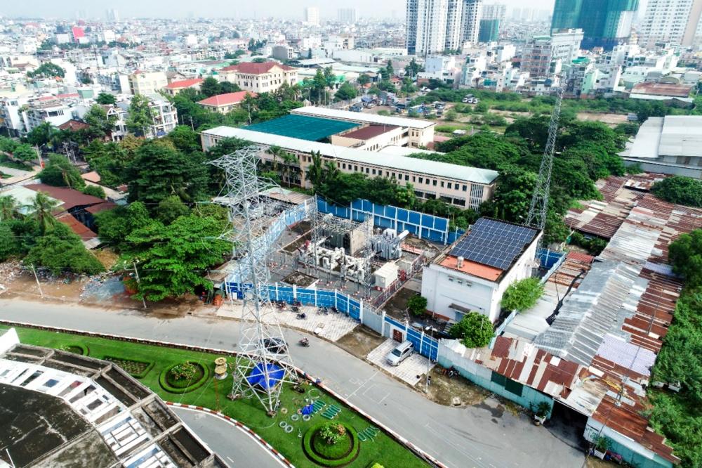 Công trình đường dây 110kV Phú Lâm - Bình Phú góp phần nâng cao năng lực cung ứng điện cho khu vực Tây Nam TP.HCM