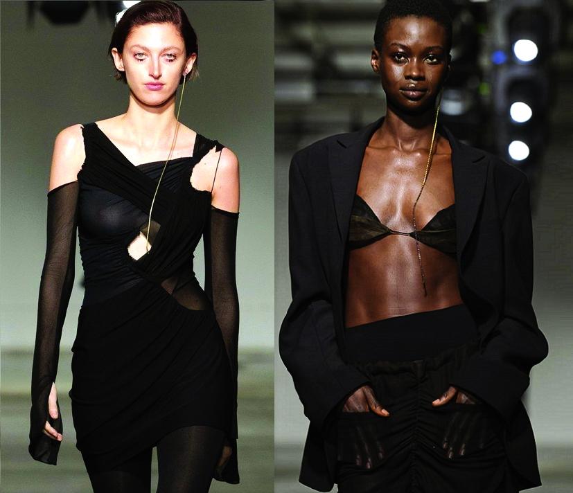 Thiết kế của Nensi Dojaka trình diễn tại Tuần lễ Thời trang London, tháng 2/2020