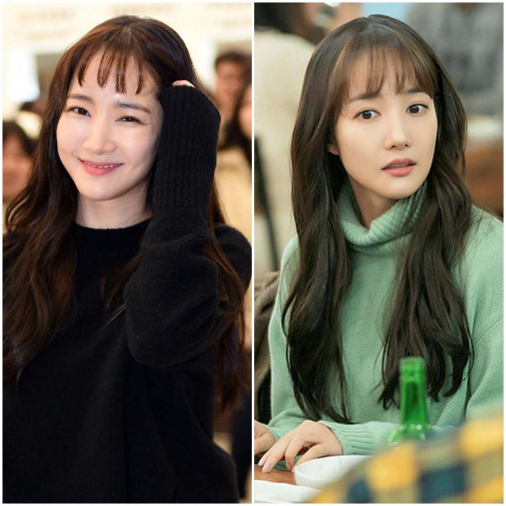 Thoát khỏi hình ảnh tóc búi cao thanh lịch, Park Min Young quay ngoắt 180 độ với tóc mái ngố trên lông mày siêu đáng yêu mà không kém phần nữ tính. Bên cạnh đó, nữ diễn viên còn nhiều lần biến hóa như cuộn tóc mái tạo độ xoăn hay chỉ để một ít tóc trước trán trông điệu đà hơn. Tuy nhiên, phái đẹp cũng nên cân nhắc kỹ lưỡng trước khi quyết định cắt mái ngố bởi kiểu tóc này khá kén gương mặt.