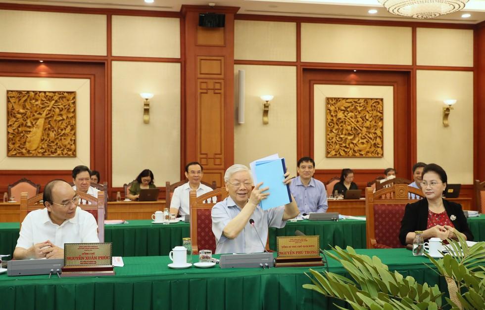 Tổng bí thư, Chủ tịch nước Nguyễn Phú Trọng phát biểu chỉ đạo tại buổi làm việc