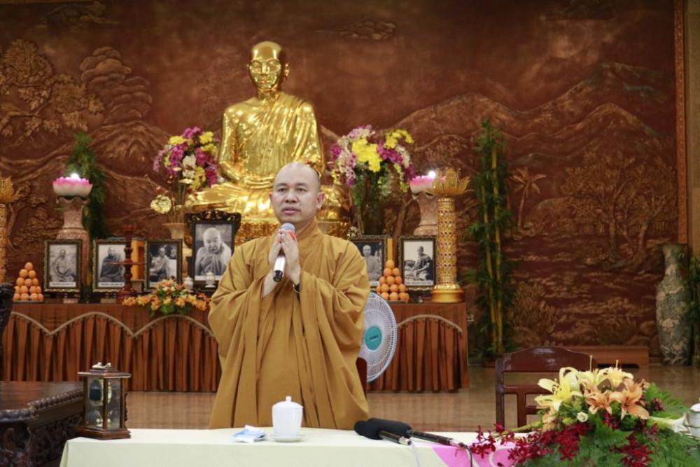 Thượng tọa Thích Đức Thiện cho biết trên cơ sở báo cáo GHPGVN sẽ có những định hướng trong công tác Phật sự đặc thù này