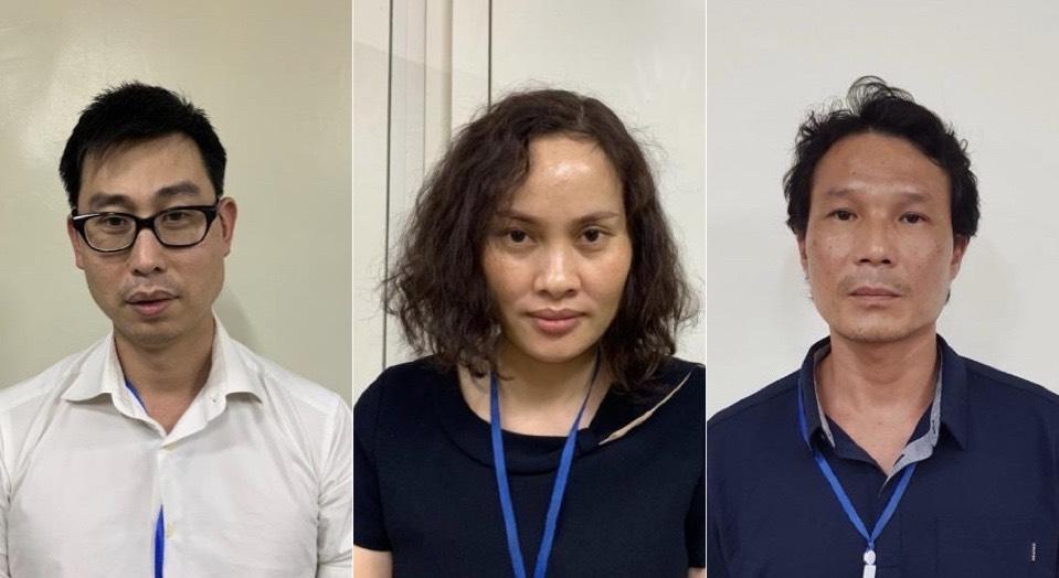Các đối tượng bị khởi tố trong vụ nâng giá thiết bị y tế tại Bệnh viện Bạch Mai.