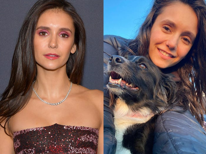 Ma cà rồng Nina Dobrev đăng tải bức ảnh không trang điểm, chụp cùng chú cún cưng