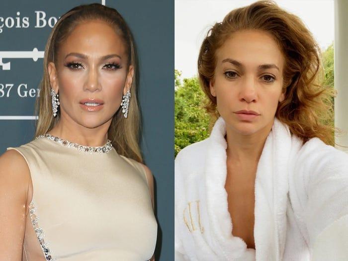 Jennifer Lopez đăng tải một bức ảnh với khuôn mặt gần như không trang điểm cùng lời Chào buổi sáng tốt lành đến người hâm mộ của mình trên Instagram