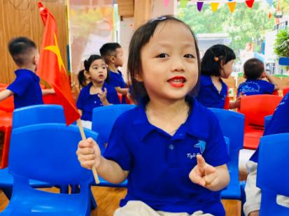 Học sinh trường Mầm non Ngôi Sao Xanh háo hức dự lễ khai giảng