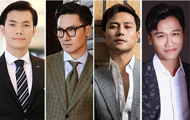 Top 5 Nam diễn viên ấn tượng (từ trái sang) gồm: Nhan Phúc Vinh, Mạnh Trường, Việt Anh, Thanh Sơn, Xuân Nghị.
