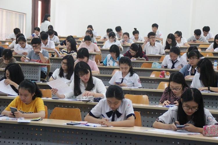 Thí sinh dự thi đánh giá năng lực tại ĐH Quốc tế