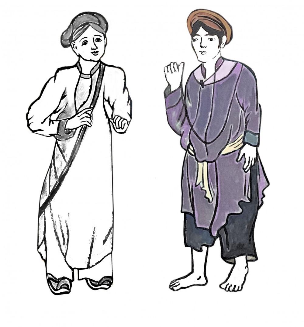 Tạo hình và trang phục của Bà Đồ trong vở diễn do NTK Sĩ Hoàng lên ý tưởng