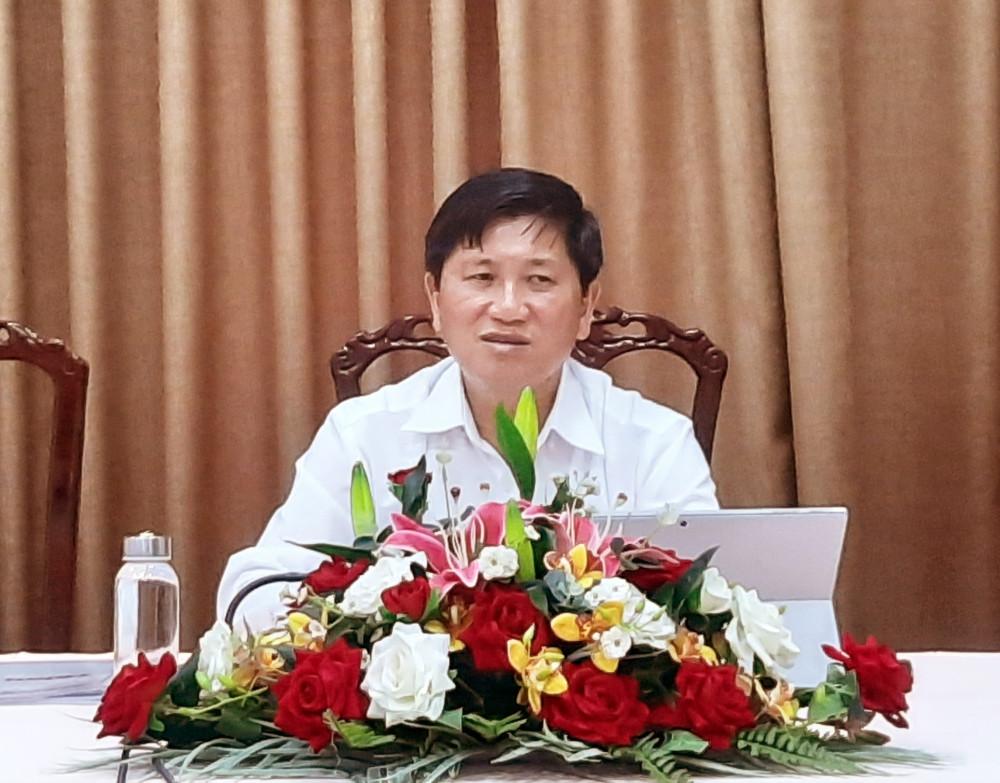 Ông Lê Văn Sử chủ trì buổi họp báo