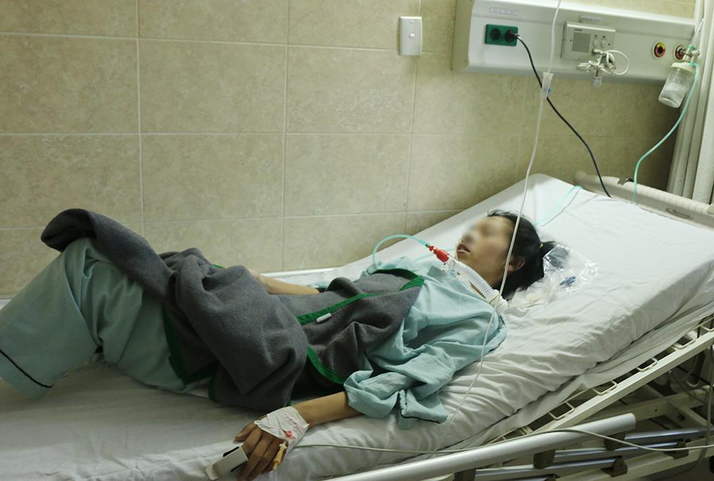 Chị T.T.G. bị ngộ độc sau khi ăn pate Minh Chay đang có sự phục hồi tích cực, ảnh BVCC.