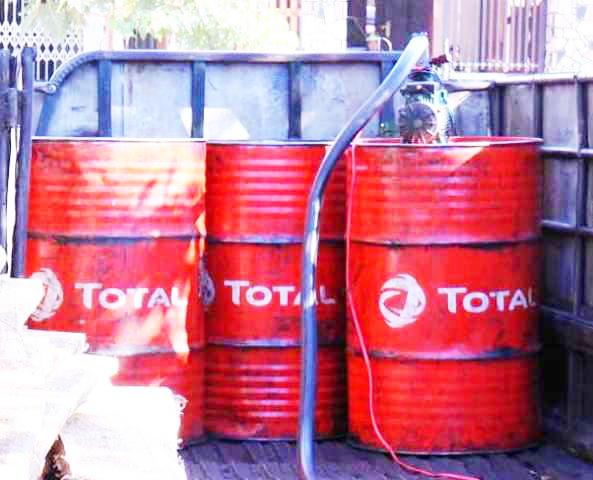ông Lê Tấn Hùng thừa nhận số  hơn 3.000 lít dầu diezel giả này do ông tự sản xuất