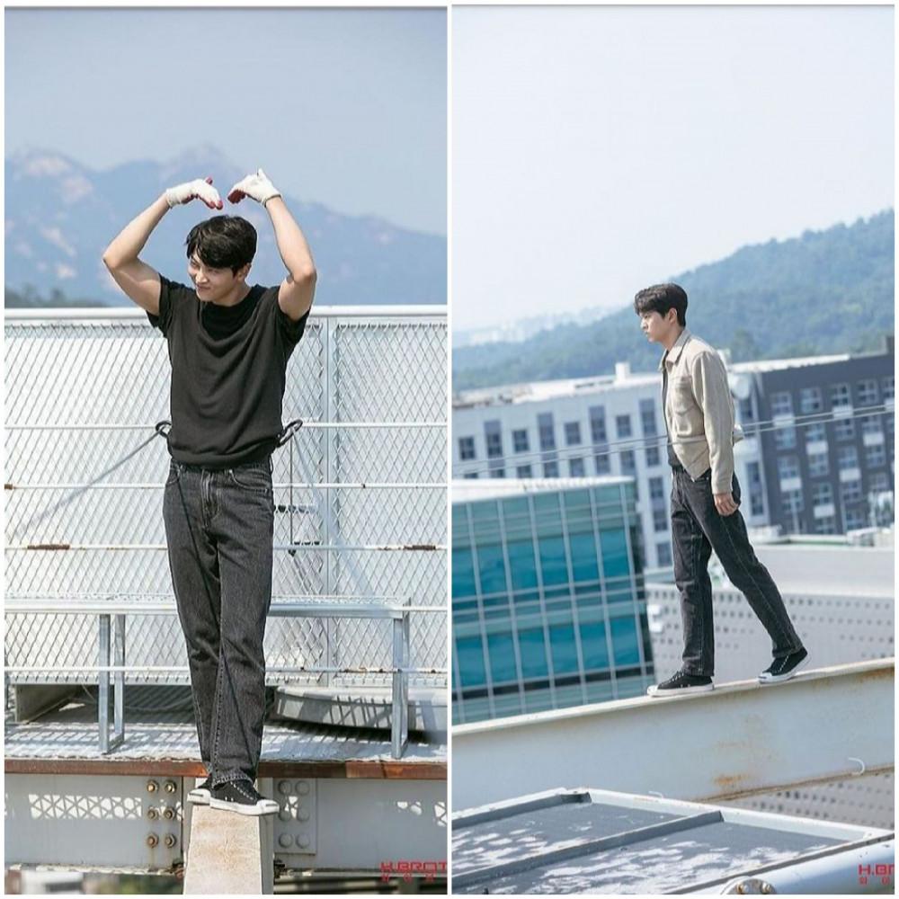 Joo Won tự mình thực hiện những cảnh quay khó.