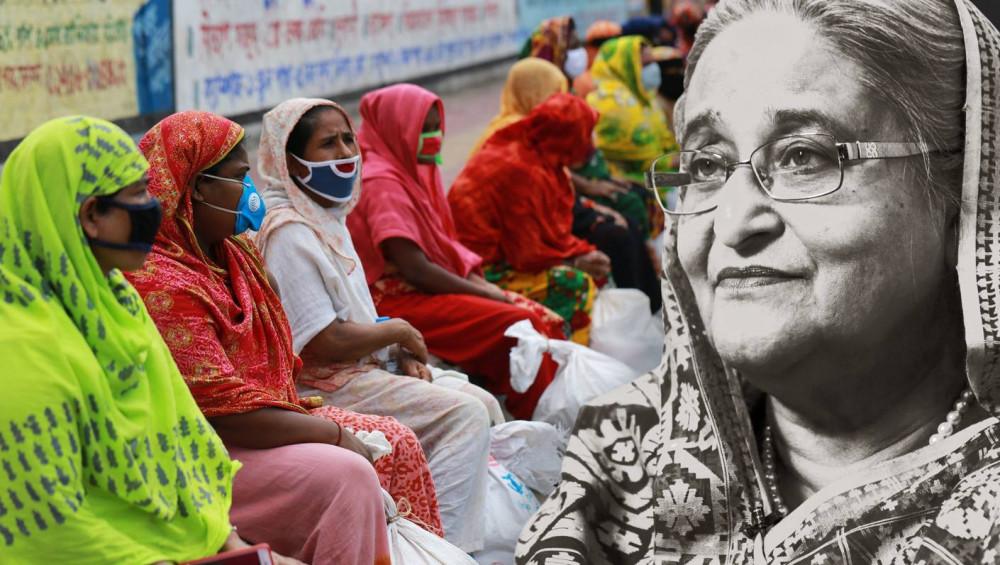 Thủ tướng Bangladesh Sheikh Hasina đã rất nỗ lực trong việc kiềm chế sự lây lan của coronavirus ở đất nước mình - Ảnh: Nikkei Asian Review