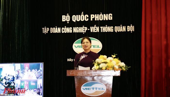 Chủ tịch Hội LHPN Việt Nam Hà Thị Nga phát biểu khai mạc chương trình tập huấn