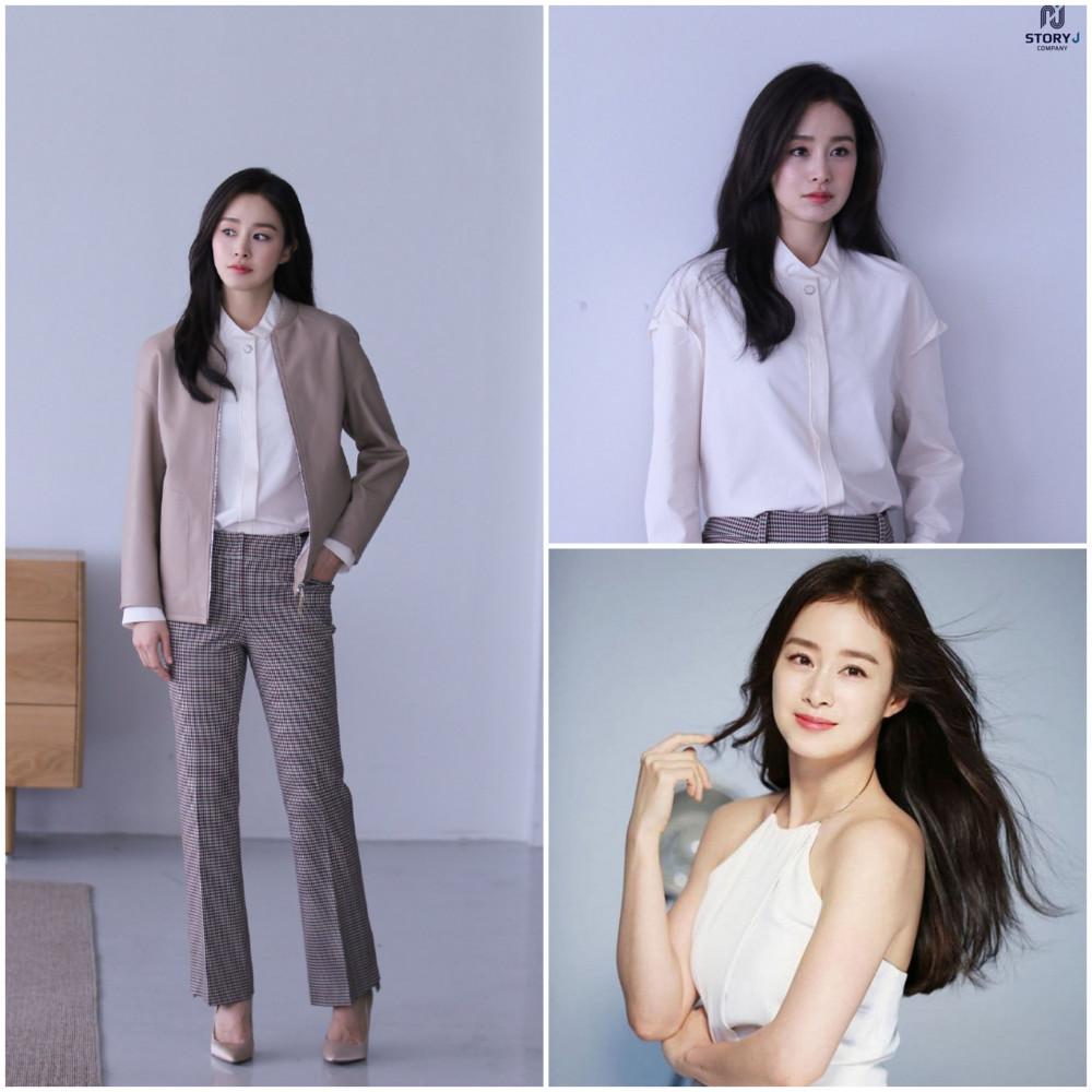 Kim Tae Hee giữ dáng chuẩn sau sinh.