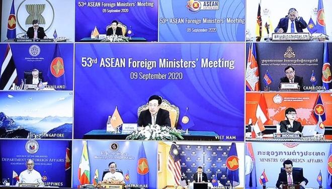 Hội nghị trực tuyến Bộ trưởng Ngoại giao Cấp cao Đông Á (EAS) lần thứ 10