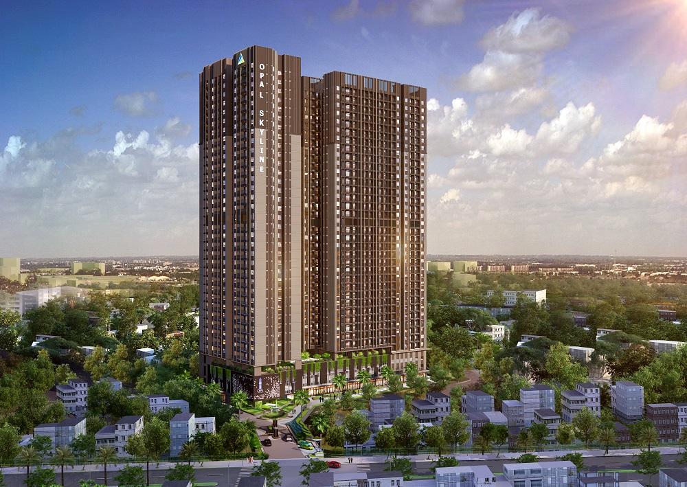 Khu Căn hộ cao cấp Opal Skyline đang trở thành dự án tâm điểm tại TP.Thuận An.