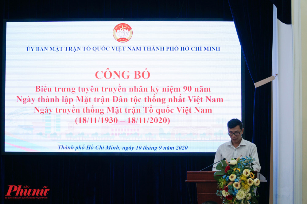 Ông Lê Phúc Hậu – Phó ban Tuyên giáo - Đối ngoại Ủy ban Mặt trận Tổ quốc Việt Nam Thành phố chia sẻ thêm về ý nghĩalogo