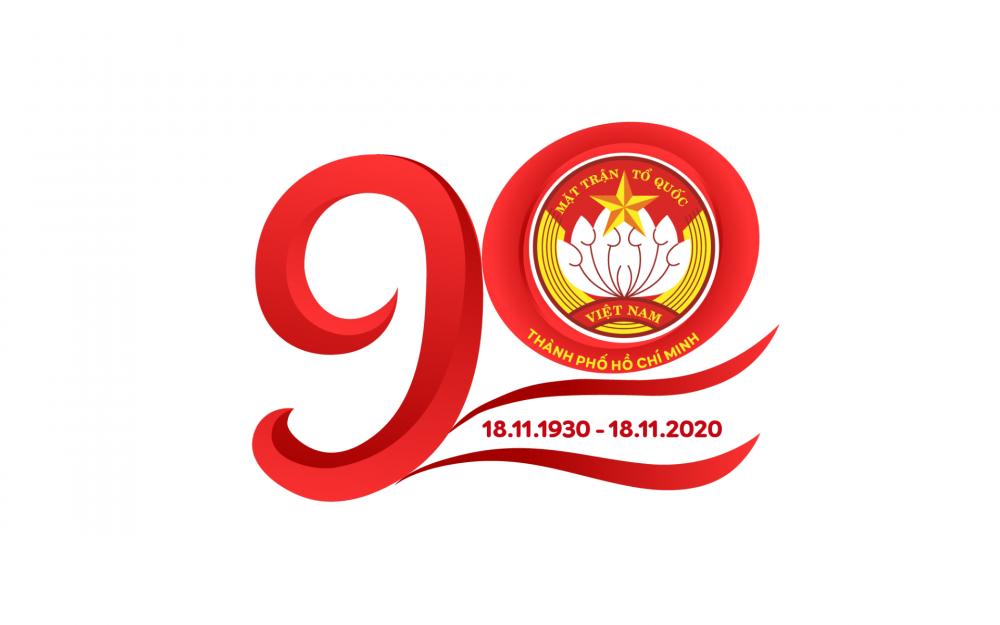 Logo biểu trưng tuyên truyền nhân kỷ niệm 90 năm Ngày Truyền thống Mặt trận Tổ quốc Việt Nam (18/11/1930 - 18/11/2020)