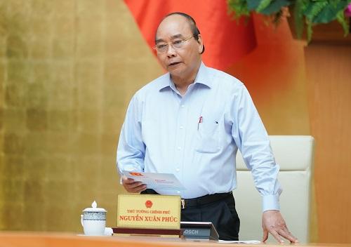 Thủ tướng Nguyễn Xuân Phúc chỉ đạo tại cuộc họp (Ảnh: VGP).