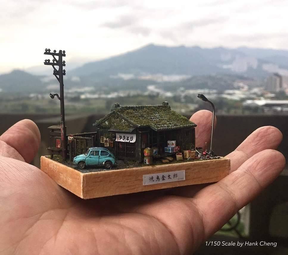 Những mô hình nhà thu nhỏ đầy thu hút của Hank Cheng