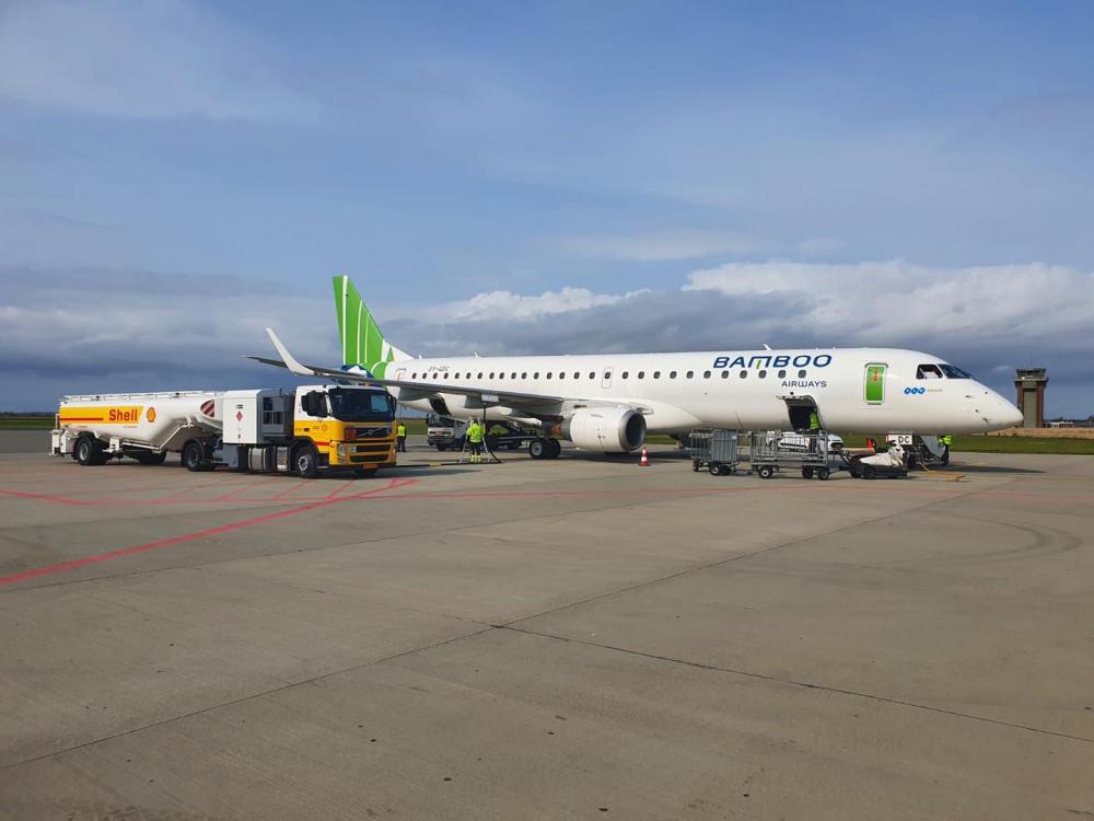 Embraer 159 dòng máy bay mà Bamboo Airways đưa vào khai thác đường bay đến và đi Côn Đảo. (Ảnh: Bamboo Airways)