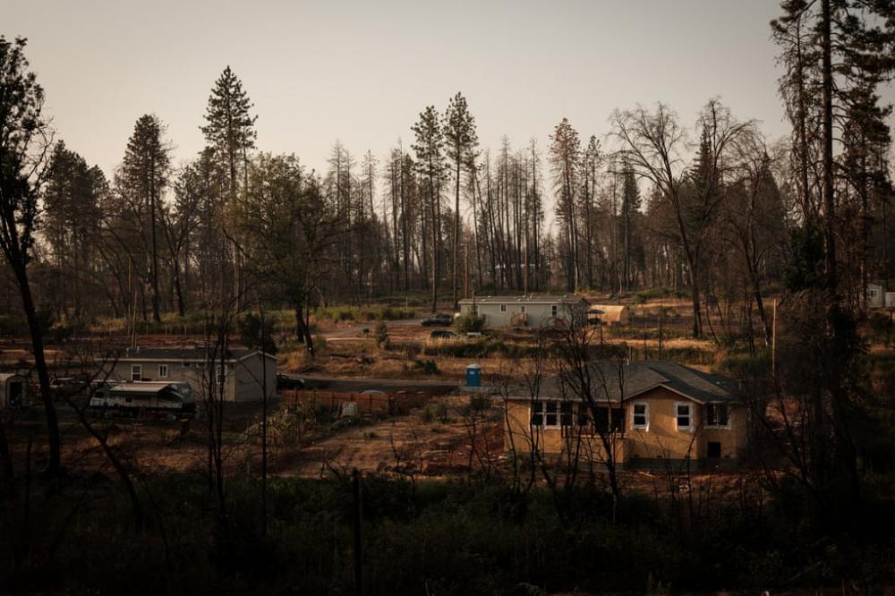 Paradise đang được tái thiết sau khi trận cháy Camp năm 2018 phá hủy toàn bộ thị trấn - Ảnh: The Guardian
