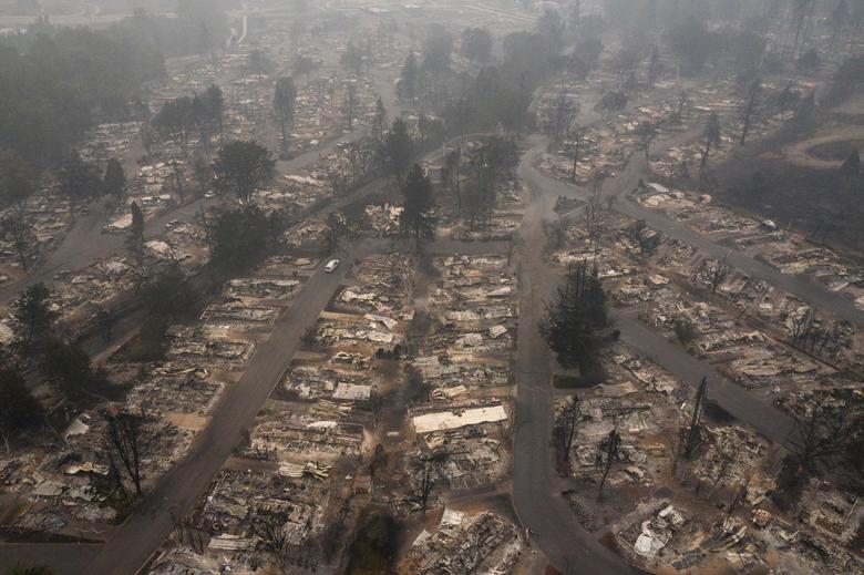 Khu phố Medford Estates sau đám cháy Almeda ở Medford, Oregon ngày 11/9
