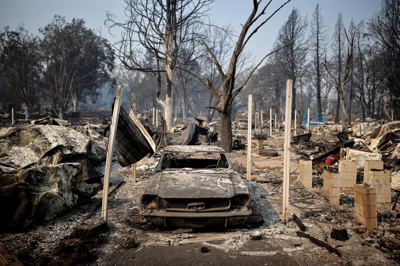 Một khu vực bị khác cũng thuộc Phoenix, Oregon bị cháy rừng tàn phá