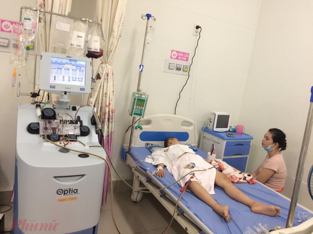 Bệnh nhân nằm trong phòng ghép tủy