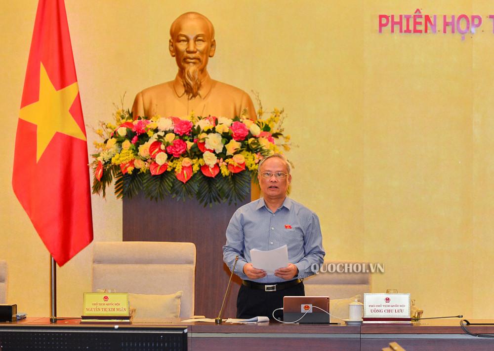 Phó Chủ tịch Quốc hội Uông Chu Lưu.