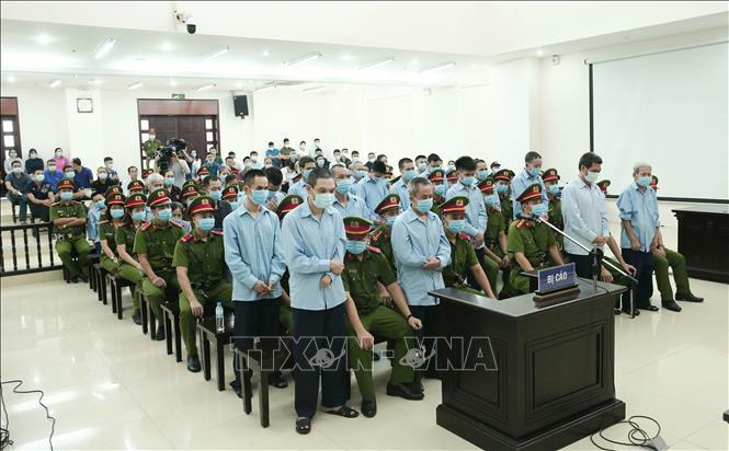 Các bị cáo trong vụ việc xảy ra tại Đồng Tâm.