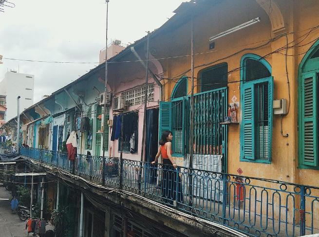 Chung cư Hào Sĩ Phường Q5 được xem là Hồng Kông thu nhỏ giữa Sài Gòn. Ảnh: Internet