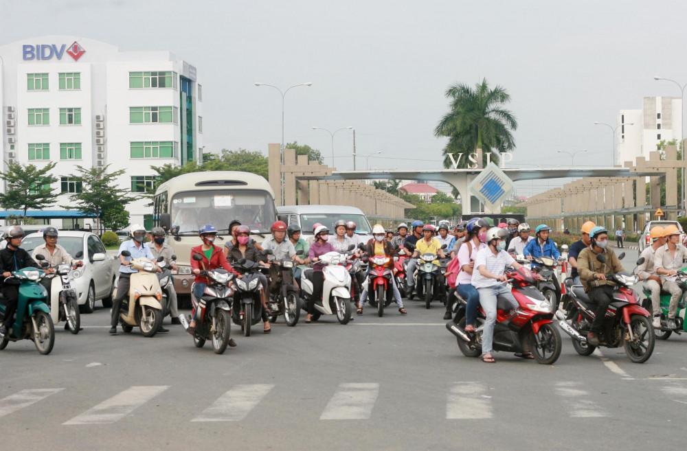 Thuận An sở hữu 3 khu công nghiệp và 2 cụm công nghiệp với lượng lớn công nhân viên có nhu cầu nhà ở cao