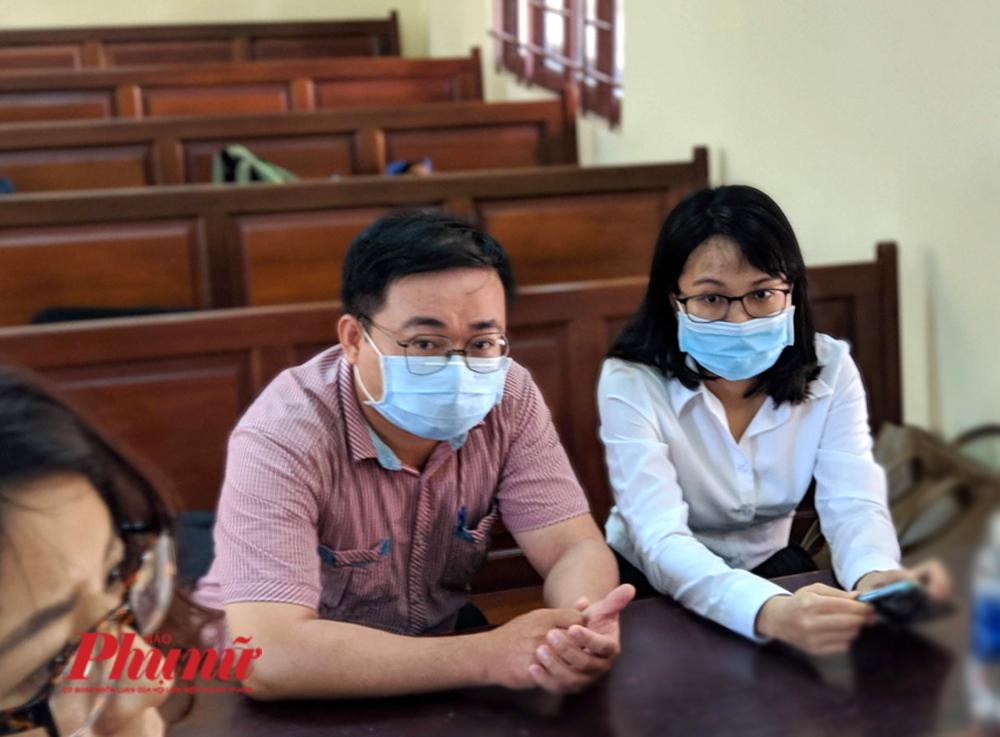 Thầy giáo Phạm Quốc Đạt tại phiên tòa sơ thẩm ngày 15/9/2020