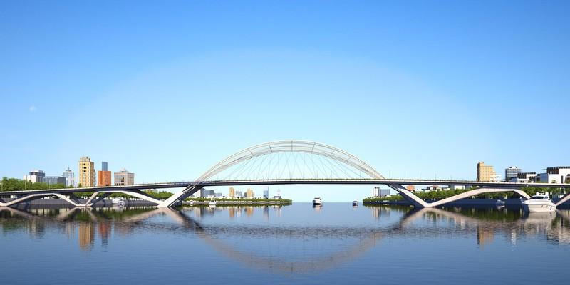 Phương án thiết kế cấu trúc cầu Thủ Thiêm hình dáng tre Việt Nam