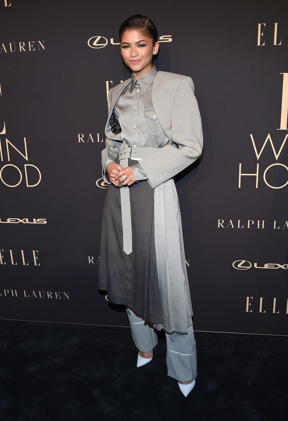 Nữ diễn viên Zendaya diện một mẫu thiết kế của Do, tại sự kiện Elle Women in Hollywood năm 2019. (Ảnh: SCMP)
