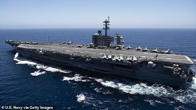 Tàu sân bay USS Theodore Roosevelt hoạt động ở khu vực Đông Thái Bình Dương vào tháng Bảy.