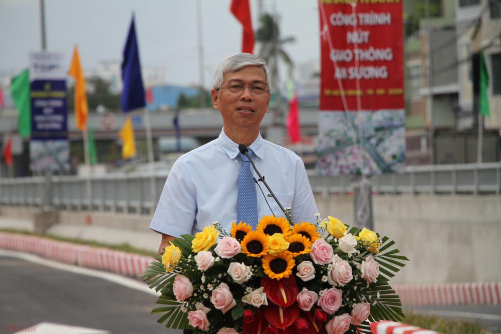 Ông Võ Văn Hoan - Phó Chủ tịch UBND TP phát biểu tại buổi khánh thành.