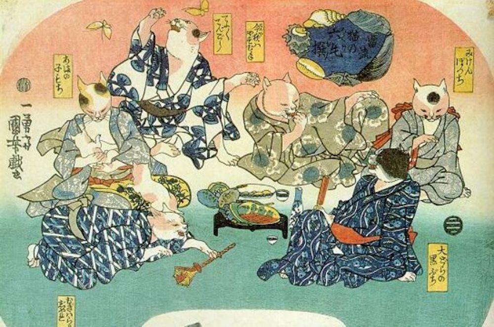 Một buổi tiệc của các con mèo Bakeneko